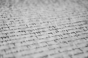 handwriting on a paper